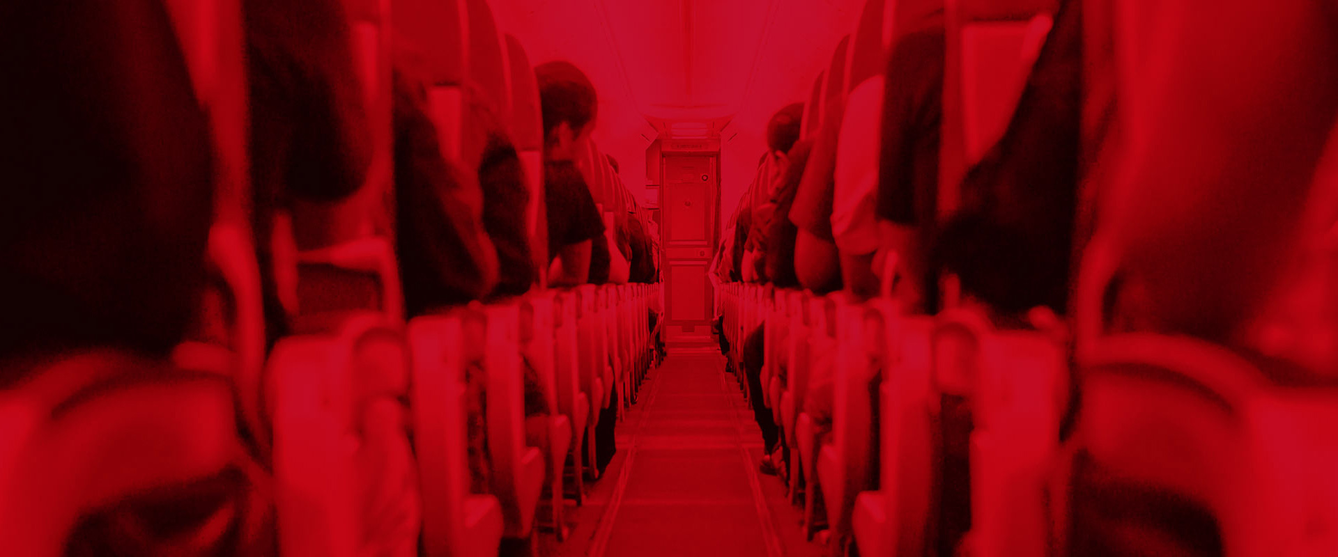 Image of people on an airplane, representing aviation.