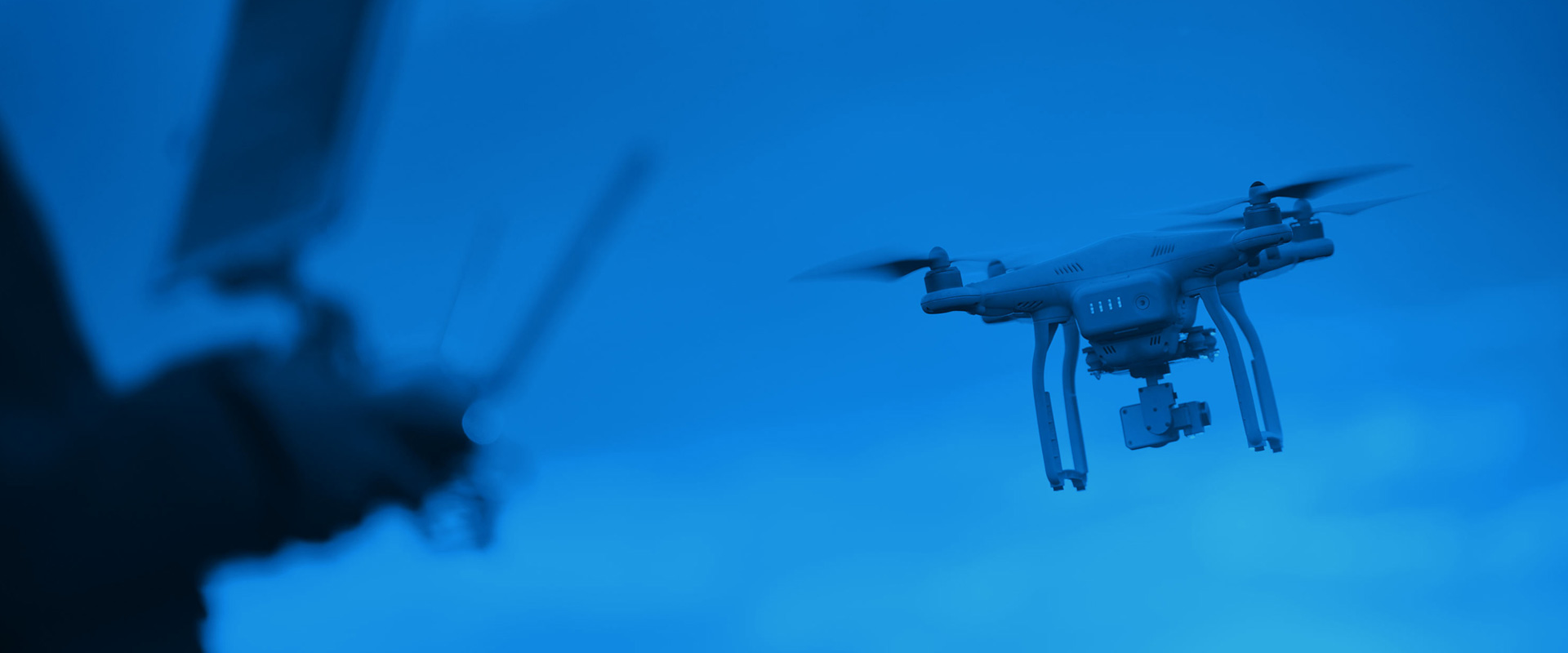 Image of a drone flying